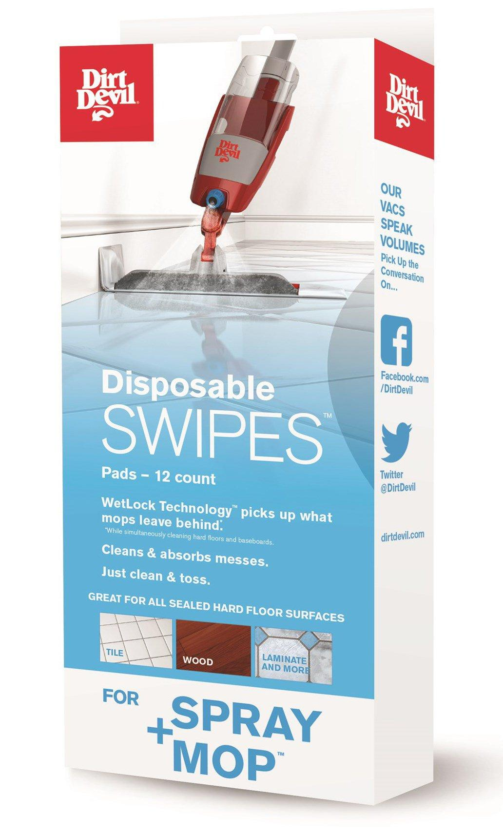 Disposable SWIPES Pads for Spray+Mop (12 count)1
