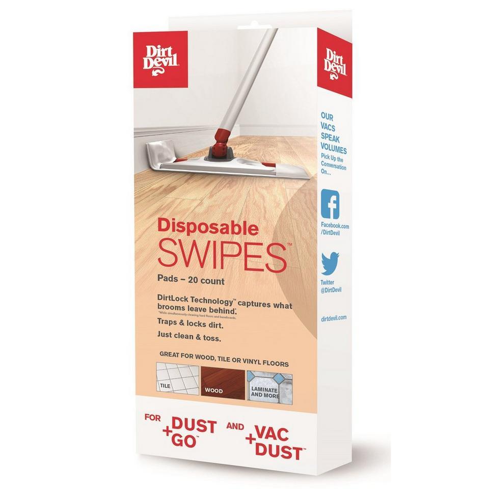 Dirt Devil Disposable Swipes Pads 20 Count